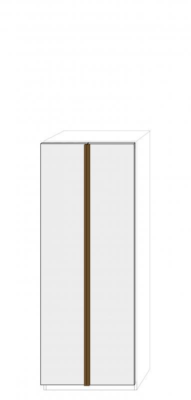 Dörrpar 75cm Pax - fanér med grepplist