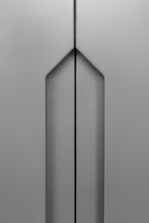 Kort högerhängd dörr 50cm Pax - släta