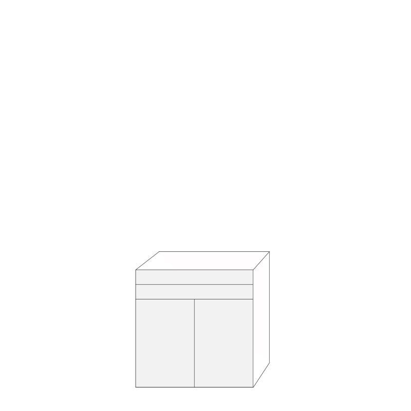 Fanér 80x80 - 2 lådfronter 2 luckor