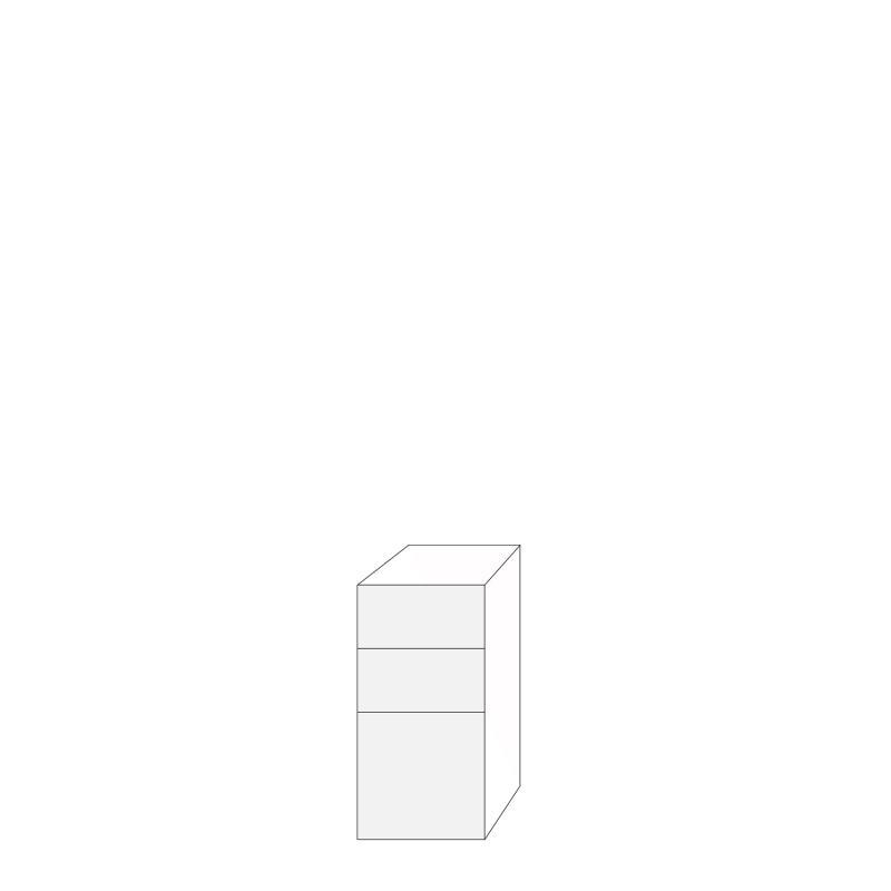 Fanér 40x80 - 3 lådfronter: 20/20/40