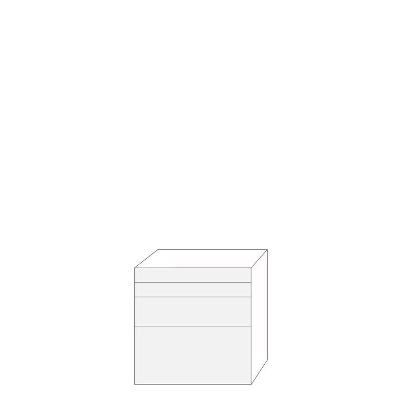 Fanér 80x80 - 4 lådfronter: 10/10/20/40