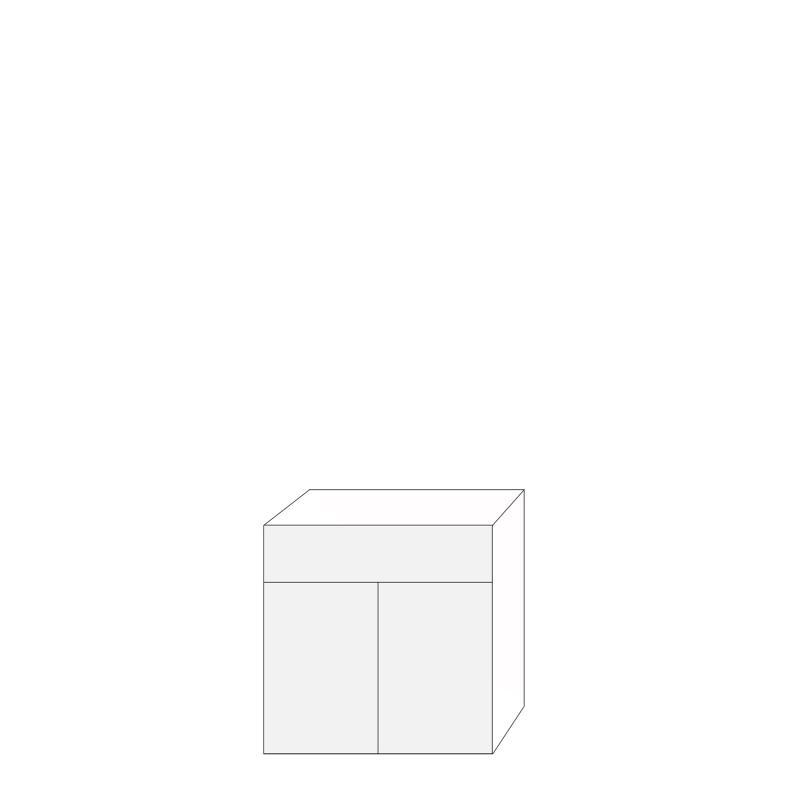 Fanér 80x80 - 1 låda 2 luckor