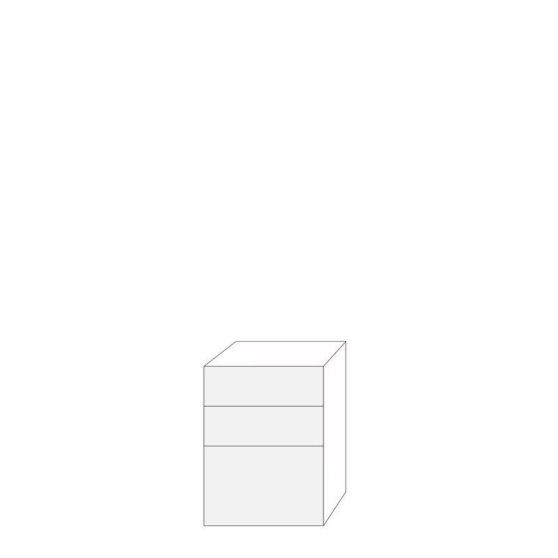 Fanér 60x80 - 3 lådfronter: 20/20/40