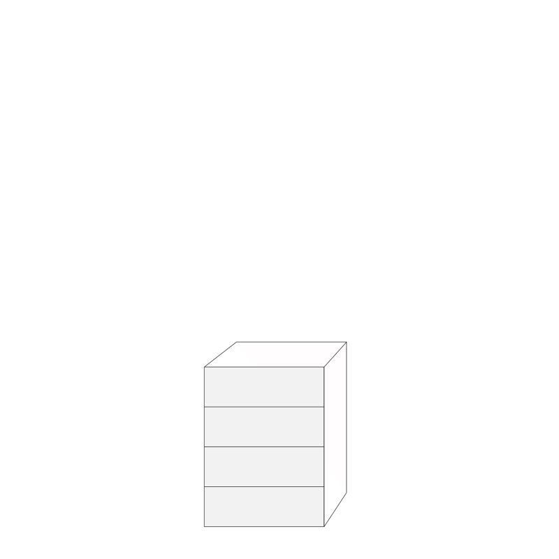 Fanér 60x80 - 4 lådfronter: 20/20/20/20