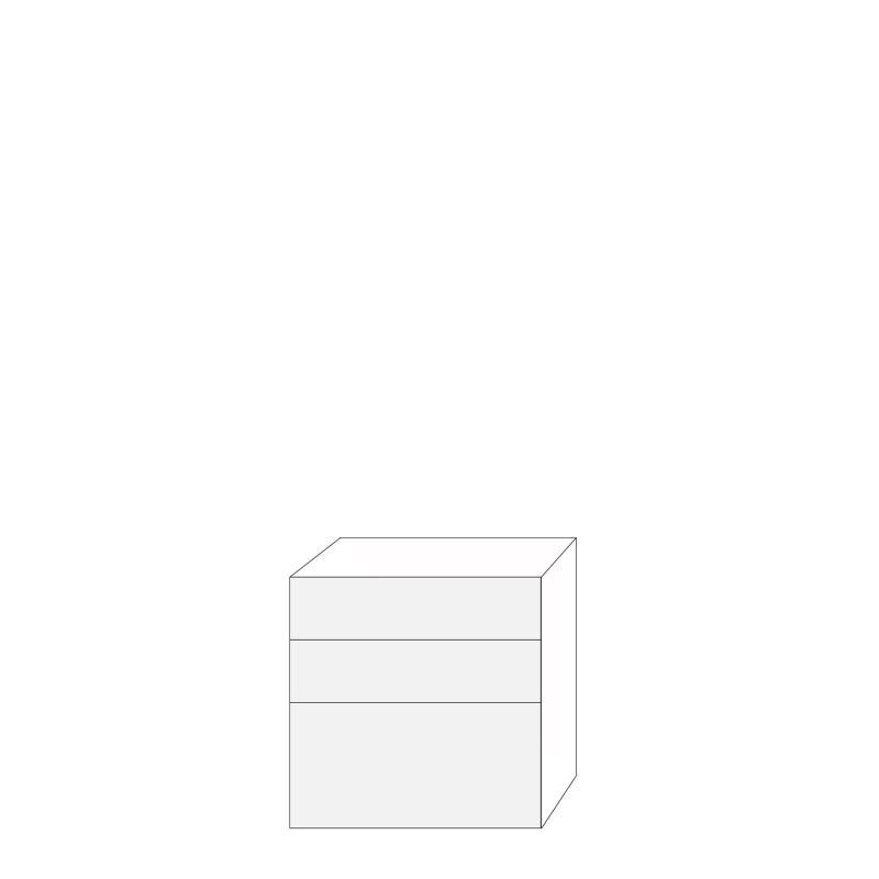 Fanér 80x80 - 3 lådfronter: 20/20/40