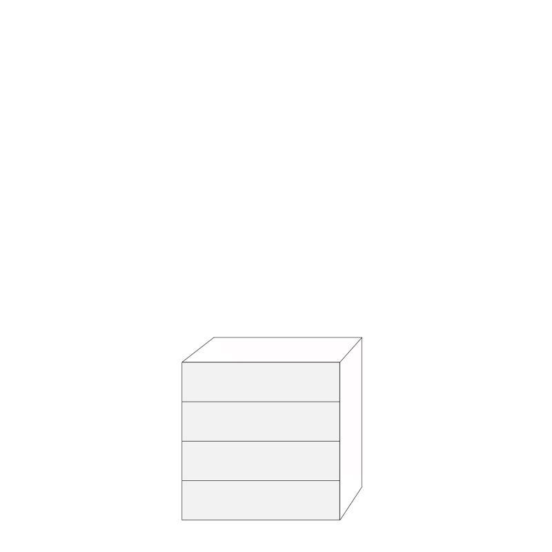 Fanér 80x80 - 4 lådfronter: 20/20/20/20