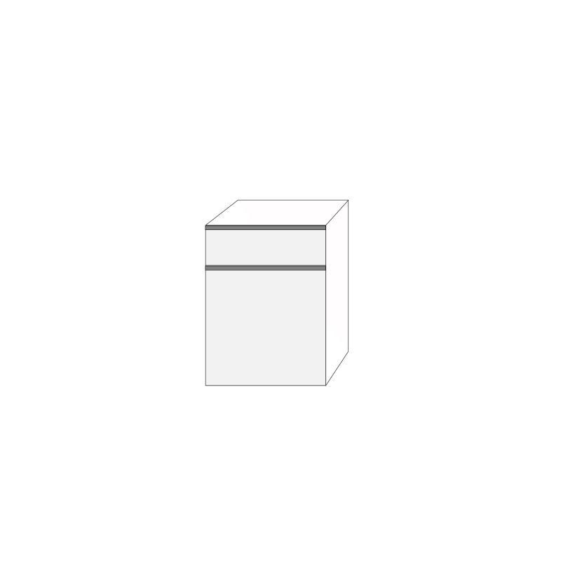 Fanér 60x80 - 2 lådfronter med grepplist: 20/60