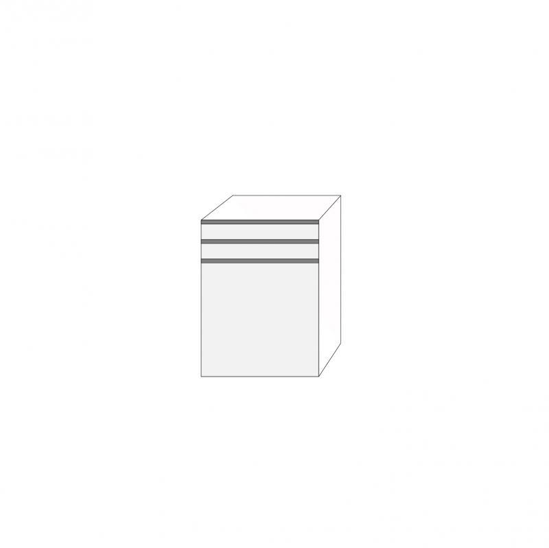 Fanér 60x80 - 3 lådfronter med grepplist: 10/10/60