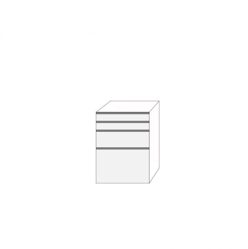 Fanér 60x80 - 4 lådfronter med grepplist: 10/10/20/40