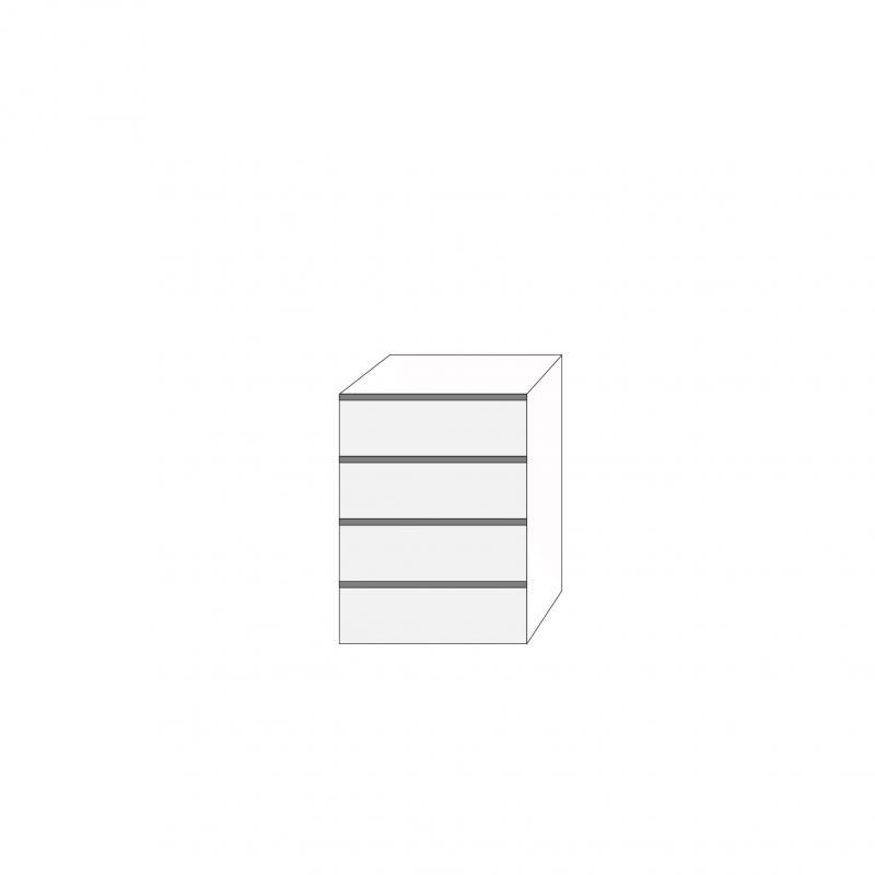 Fanér 60x80 - 4 lådfronter med grepplist: 20/20/20/20