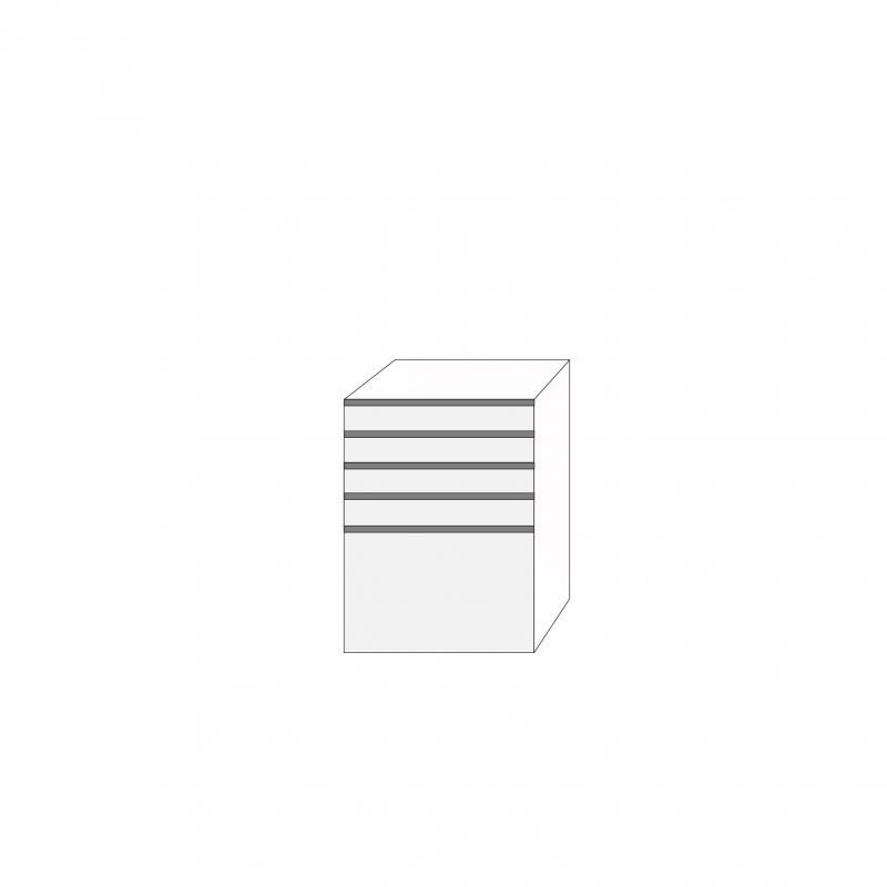 Fanér 60x80 - 5 lådfronter med grepplist: 10/10/10/10/40