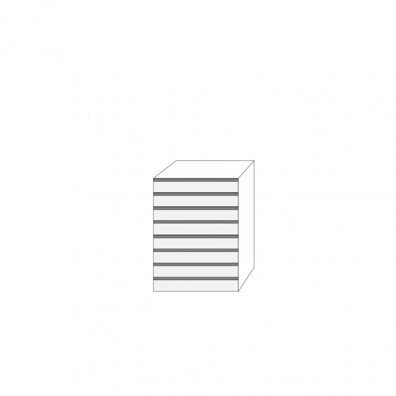 Fanér 60x80 - 8 lådfronter med grepplist: 10/10/10/10/10/10/10/10