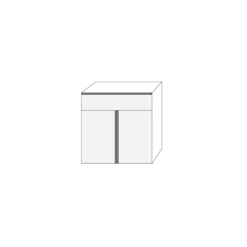 Fanér 80x80 - 1 låda 2 luckor med grepplist