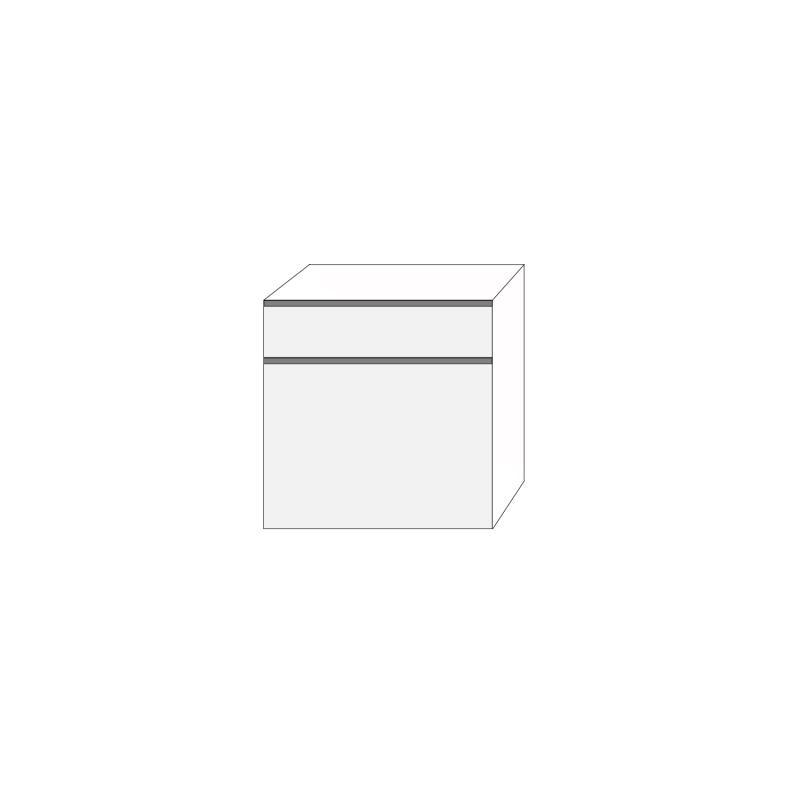 Fanér 80x80 - 2 lådfronter med grepplist: 20/60