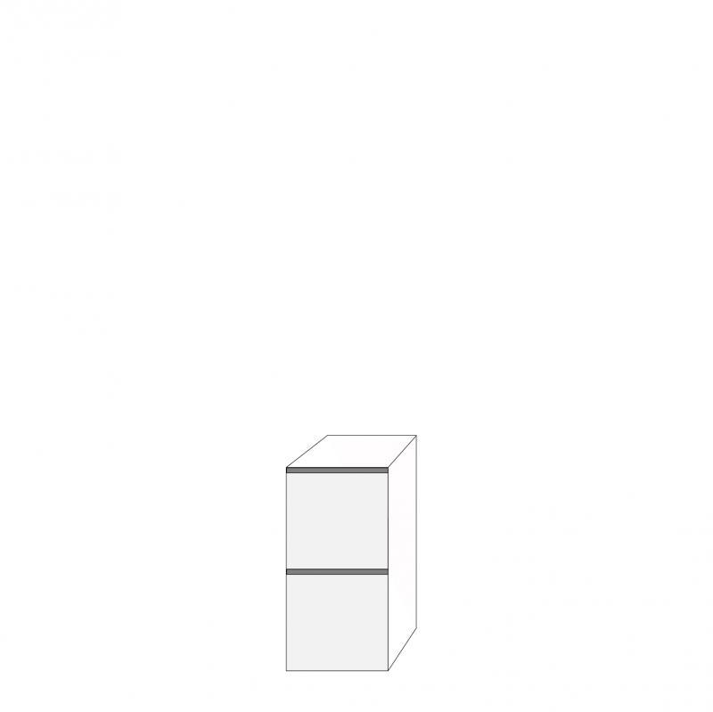 Fanér 40x80 - 2 lådfronter med grepplist: 40/40