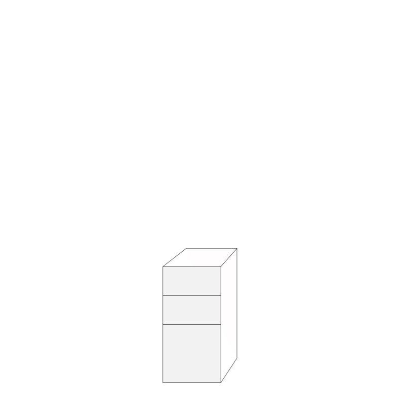 Coco 40x80 - 3 lådfronter: 20/20/40