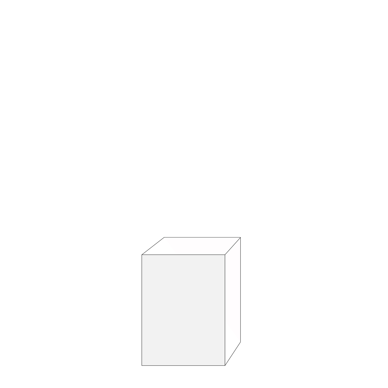 60x80 - 1 lucka vänsterhängd