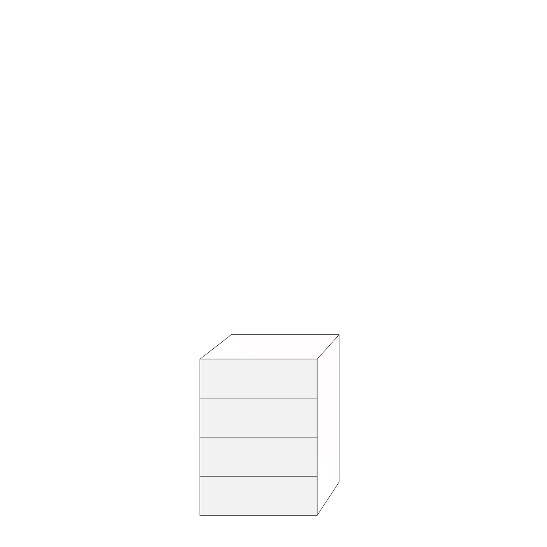 Coco 60x80 - 4 lådfronter: 20/20/20/20