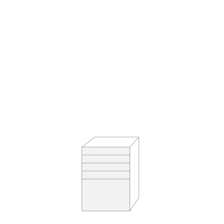 Coco 60x80 - 5 lådfronter: 10/10/10/10/40