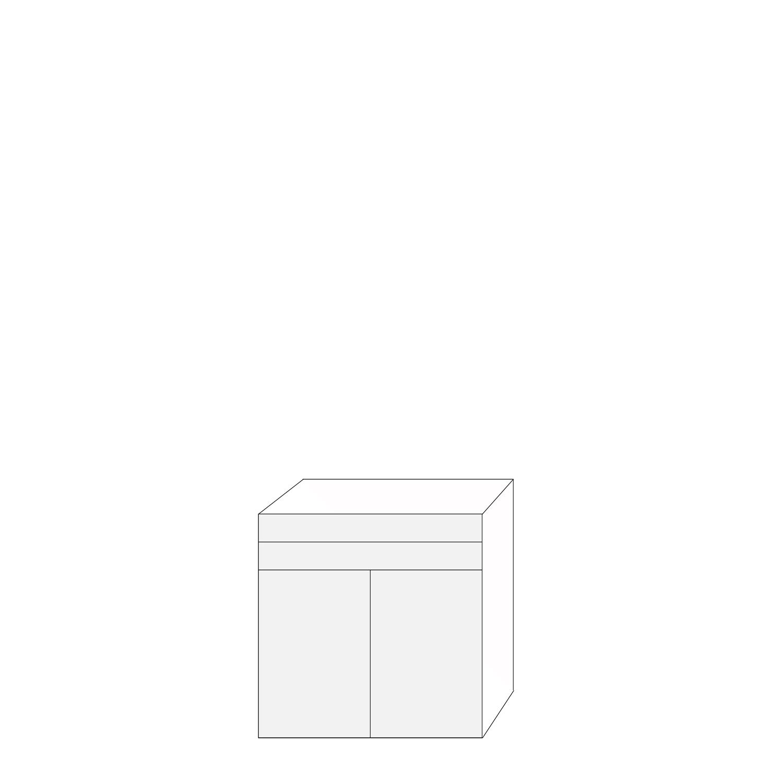 Coco 80x80 - 2 lådfronter 2 luckor