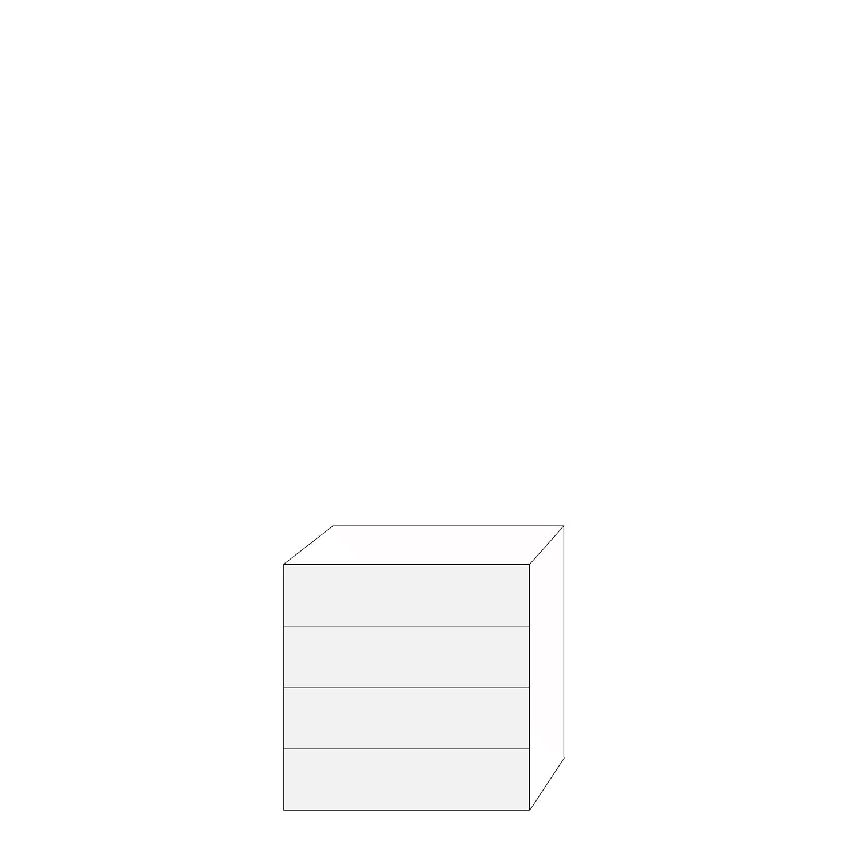 Ramses 80x80 - 4 lådfronter: 20/20/20/20