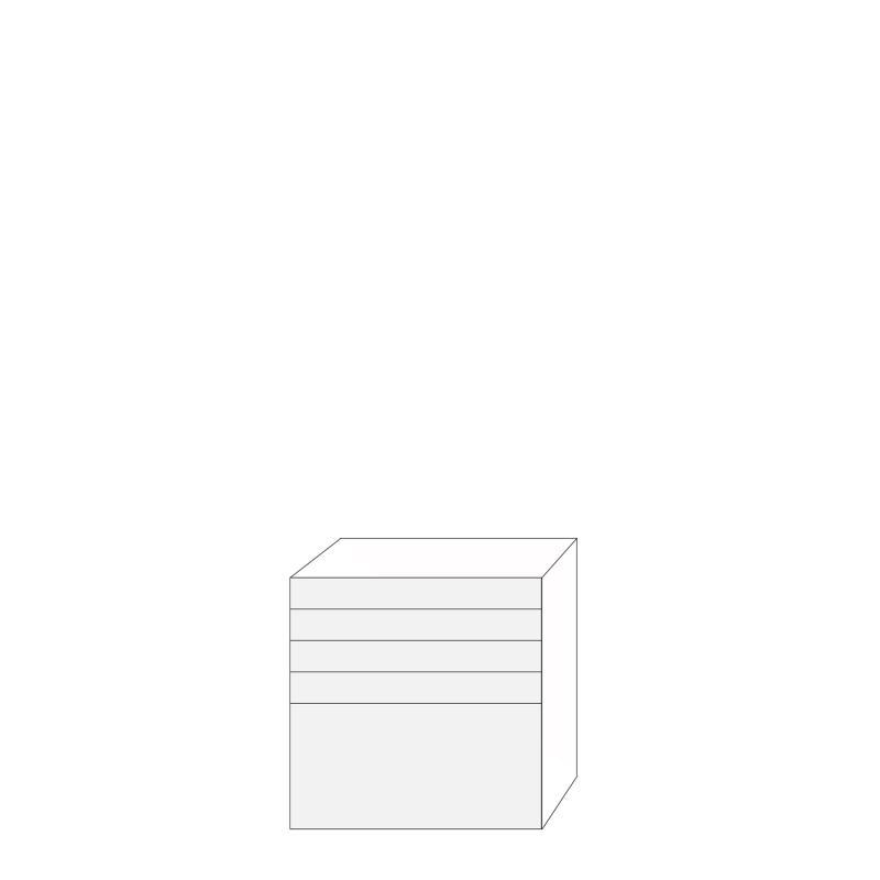 Coco 80x80 - 5 lådfronter: 10/10/10/10/40