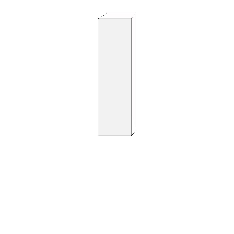 40x140 - 1 lucka vänsterhängd