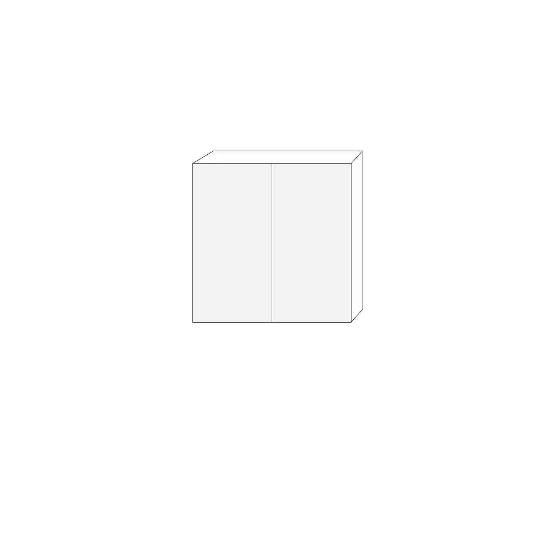80x80 - 1 luckpar till väggstomme