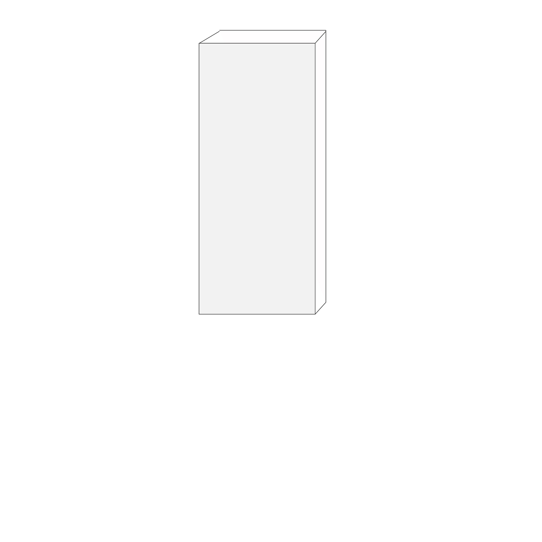 60x140 - 1 lucka vänsterhängd