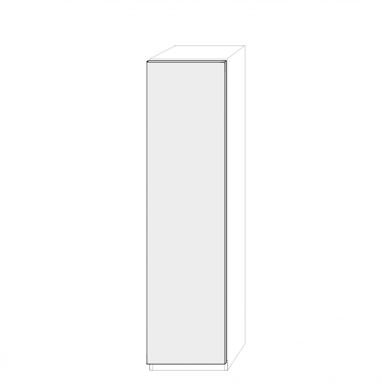 Vänsterhängd dörr 50cm Pax - slät