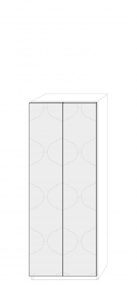 Dörrpar 75cm Pax - med mönster