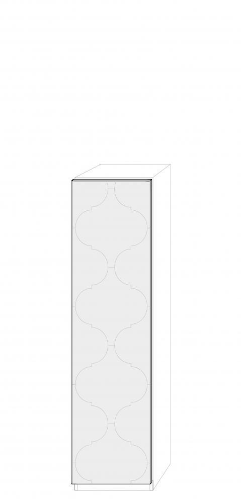 Vänsterhängd dörr 50cm Pax - med mönster