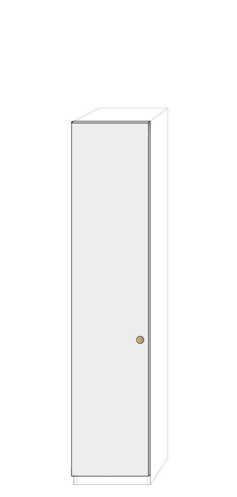 Vänsterhängd dörr 50cm Pax - fanér med pixie grepp