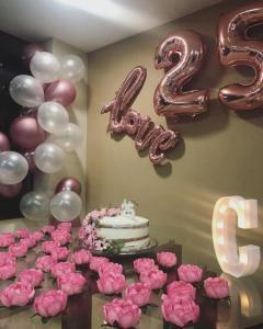 25th Birthday Luxury Ballong Bukett.