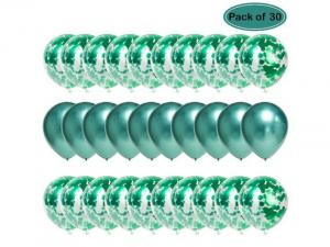 Ballong Bukett i Grön. 30 Pack
