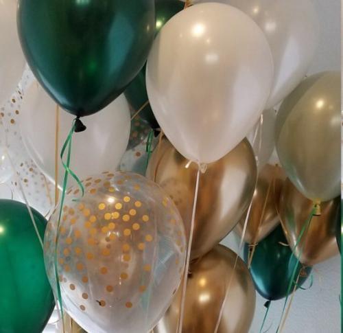 Ballong Bukett Mörk Emerald Grön. 30 Pack