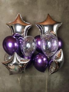 Ballong Bukett I silver/Lila.