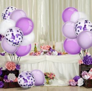 Ballong Bukett i Lila/Vit. 60 delar.