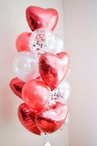 Ballong Bukett - Mitt Hjärta. 15 Pack