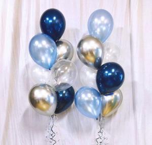 Ballong Bukett Midnight/Light Ocean. 16 Delar