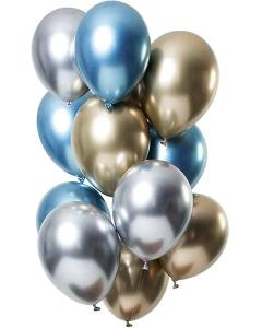 Ballong Bukett Chrome. 12 Pack