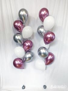 Ballong Bukett Princess Chrome. 18 Pack