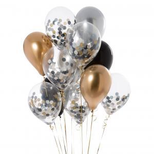 Ballong Bukett Diplomat Chrome. 12 Pack