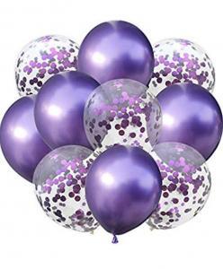 Ballong Bukett i Lila. 10 pack.