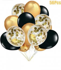 Ballong Bukett i Guld/Svart. 56 Delar.