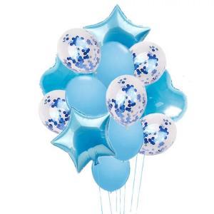 Ballong Buket i Ljus Blå. 14 Pack