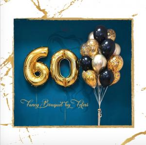 60th Birthday Luxury Ballong Bukett.