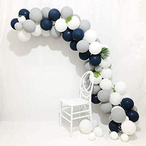 DIY Ballongbåge Marinblå/Vit. 90 Delar