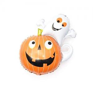 Pumpa och Spöke Halloween Folie Ballong. 80x60cm.