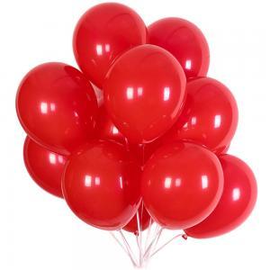 Latex Ballonger I Röd. 10 Pack